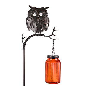Perched Owl Stake Light