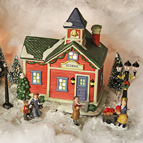 School and House at Twilight (20 piece set)